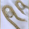 Boucles d'oreilles Athéna dorées à l'or fin 24 carats